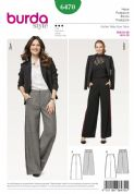 6470  Burda Pattern: Womans Trousers